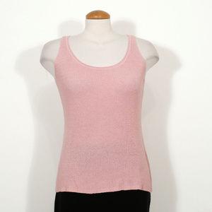 Pink Silk Cotton Cord Rib Tank Top S